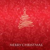 Κομψή κάρτα Χριστουγέννων με ένα συμβολικό δέντρο Στοκ φωτογραφία με δικαίωμα ελεύθερης χρήσης