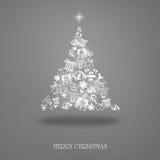 Κομψή κάρτα Χριστουγέννων με ένα συμβολικό δέντρο Στοκ φωτογραφίες με δικαίωμα ελεύθερης χρήσης