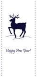Κομψή κάρτα Χριστουγέννων με τη σκιαγραφία ελαφιών Στοκ Εικόνες