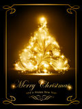 Κομψή κάρτα Χριστουγέννων, πρόσκληση συμβαλλόμενων μερών ελεύθερη απεικόνιση δικαιώματος