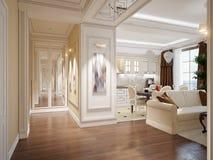 Κομψή κλασική και πολυτελής αίθουσα στοκ φωτογραφία με δικαίωμα ελεύθερης χρήσης