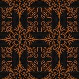 Κομψή μοντέρνη αφηρημένη floral ταπετσαρία. Άνευ ραφής υπόβαθρο σχεδίων. Ύφος της ταπετσαρίας πολυτέλειας της Δαμασκού. Διάνυσμα Στοκ Εικόνα