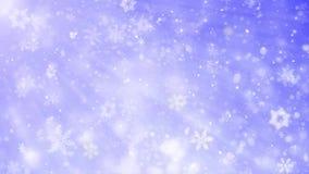 Κομψή μπλε περίληψη με Snowflakes τα Χριστούγεννα ζωντάνεψαν το μπλε υπόβαθρο απεικόνιση αποθεμάτων