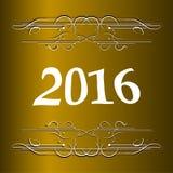 Κομψή νέα κάρτα ετών με την εγγραφή χεριών, καλή χρονιά 2016 Στοκ φωτογραφία με δικαίωμα ελεύθερης χρήσης