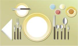 Κομψή ρύθμιση επιτραπέζιων γευμάτων Στοκ φωτογραφίες με δικαίωμα ελεύθερης χρήσης