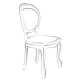 Κομψή σκιαγραφημένη καρέκλα Στοκ εικόνα με δικαίωμα ελεύθερης χρήσης