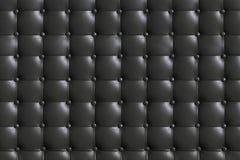 κομψή σκούρο γκρι σύσταση δέρματος με τα κουμπιά για το υπόβαθρο Στοκ Φωτογραφίες