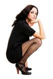 κομψή όμορφη γυναίκα Στοκ Φωτογραφίες