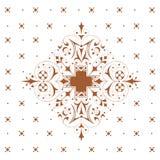 κομψή floral διακόσμηση διανυσματική απεικόνιση