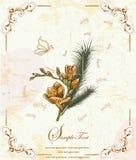 Κομψή floral κάρτα πρόσκλησης Στοκ φωτογραφία με δικαίωμα ελεύθερης χρήσης