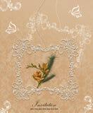 Κομψή floral κάρτα πρόσκλησης Στοκ εικόνες με δικαίωμα ελεύθερης χρήσης