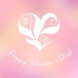Κομψή floral καρδιά Στοκ Εικόνα