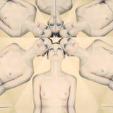 κομψή nude γυναίκα καλειδοσκόπιων Στοκ Εικόνες