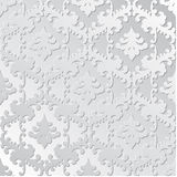 Κομψός αναδρομικός floral άνευ ραφής εγγράφου Συρμένο χέρι εκλεκτής ποιότητας πρότυπο σχεδίου για το έμβλημα, ευχετήρια κάρτα, γα Στοκ Εικόνες