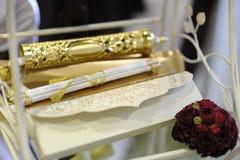 κομψός γάμος πρόσκλησης Στοκ εικόνα με δικαίωμα ελεύθερης χρήσης