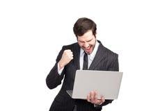 Κομψός επιχειρηματίας νικητών Στοκ φωτογραφία με δικαίωμα ελεύθερης χρήσης