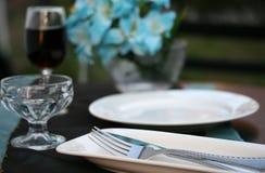 κομψός πίνακας γευμάτων Στοκ Φωτογραφίες