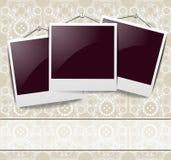 κομψός τρύγος φωτογραφιών πλαισίων διανυσματική απεικόνιση