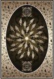 κομψός χρυσός οθωμανικό&sigmaf Στοκ φωτογραφία με δικαίωμα ελεύθερης χρήσης