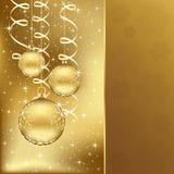 κομψός χρυσός Χριστουγέν& διανυσματική απεικόνιση