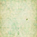 κομψός damask πράσινος shabby τρύγος  Στοκ Εικόνες