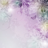 κομψός floral ανασκόπησης διανυσματική απεικόνιση