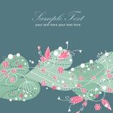 κομψός floral βαλεντίνος καρτών αγάπης Στοκ Εικόνες