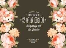 κομψός floral καρτών Στοκ φωτογραφία με δικαίωμα ελεύθερης χρήσης