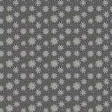 Κομψό άνευ ραφής σχέδιο πολλά χρυσά και πορφυρά snowflakes στο δ Στοκ Φωτογραφία