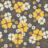 Κομψό άνευ ραφής σχέδιο με τα φύλλα τριφυλλιού για την ημέρα του ST Πάτρικ Στοκ Φωτογραφίες