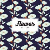Κομψό άνευ ραφής σχέδιο λουλουδιών Σχέδιο ταπετσαριών Σύσταση τυπωμένων υλών Σχέδιο υφάσματος απεικόνιση αποθεμάτων
