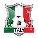 Κομψό λαμπρό εικονίδιο ποδοσφαίρου της Ιταλίας Στοκ Φωτογραφίες