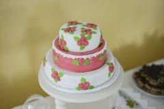 Κομψό γαμήλιο κέικ, μεγάλο σχέδιο Στοκ Φωτογραφίες