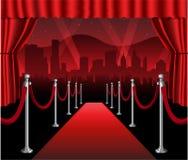 Κομψό γεγονός πρεμιέρας κινηματογράφων κόκκινου χαλιού hollywood διανυσματική απεικόνιση