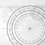 Κομψό διανυσματικό σχέδιο τεχνολογίας Στοκ Εικόνες
