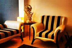 κομψό καθιστικό Στοκ φωτογραφία με δικαίωμα ελεύθερης χρήσης