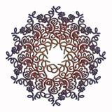 Κομψό και τρυφερό σχέδιο κύκλων δαντελλών πολύχρωμο Στοκ Εικόνες