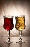κομψό κρασί γυαλιών Στοκ εικόνα με δικαίωμα ελεύθερης χρήσης