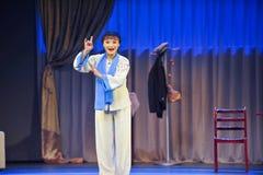 Κομψό παλτό ύφος-Jiangxi OperaBlue Στοκ Εικόνα