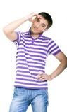 κομψό πουκάμισο ατόμων μόδας που καλύπτονται φθορά των νεολαιών Στοκ Εικόνες