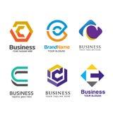 Κομψό σύνολο λογότυπων γραμμάτων Γ Στοκ εικόνα με δικαίωμα ελεύθερης χρήσης