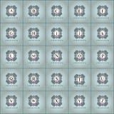Κομψό σύνολο λογότυπων μόδας εκλεκτής ποιότητας διανυσματικό Στοκ Φωτογραφία
