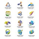 Κομψό σύνολο λογότυπων χρηματοδότησης και επιχειρήσεων Στοκ εικόνα με δικαίωμα ελεύθερης χρήσης