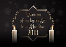 Κομψό υπόβαθρο καλής χρονιάς με τα κεριά Στοκ εικόνες με δικαίωμα ελεύθερης χρήσης