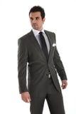 κομψό όμορφο κοστούμι ατόμων στοκ εικόνα με δικαίωμα ελεύθερης χρήσης