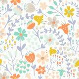 κομψό floral πρότυπο άνευ ραφής το καλύτερο μεταφορτώνει την αρχική έτοιμη σύσταση τυπωμένων υλών στο διάνυσμα Στοκ Φωτογραφία