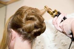 κομψό hairstyle Στοκ φωτογραφία με δικαίωμα ελεύθερης χρήσης