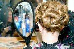κομψό hairstyle Στοκ φωτογραφίες με δικαίωμα ελεύθερης χρήσης