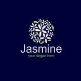 Κομψό jasmine λογότυπο Στοκ Εικόνες