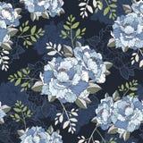 Κομψό peony άνευ ραφής floral υπόβαθρο σχεδίων